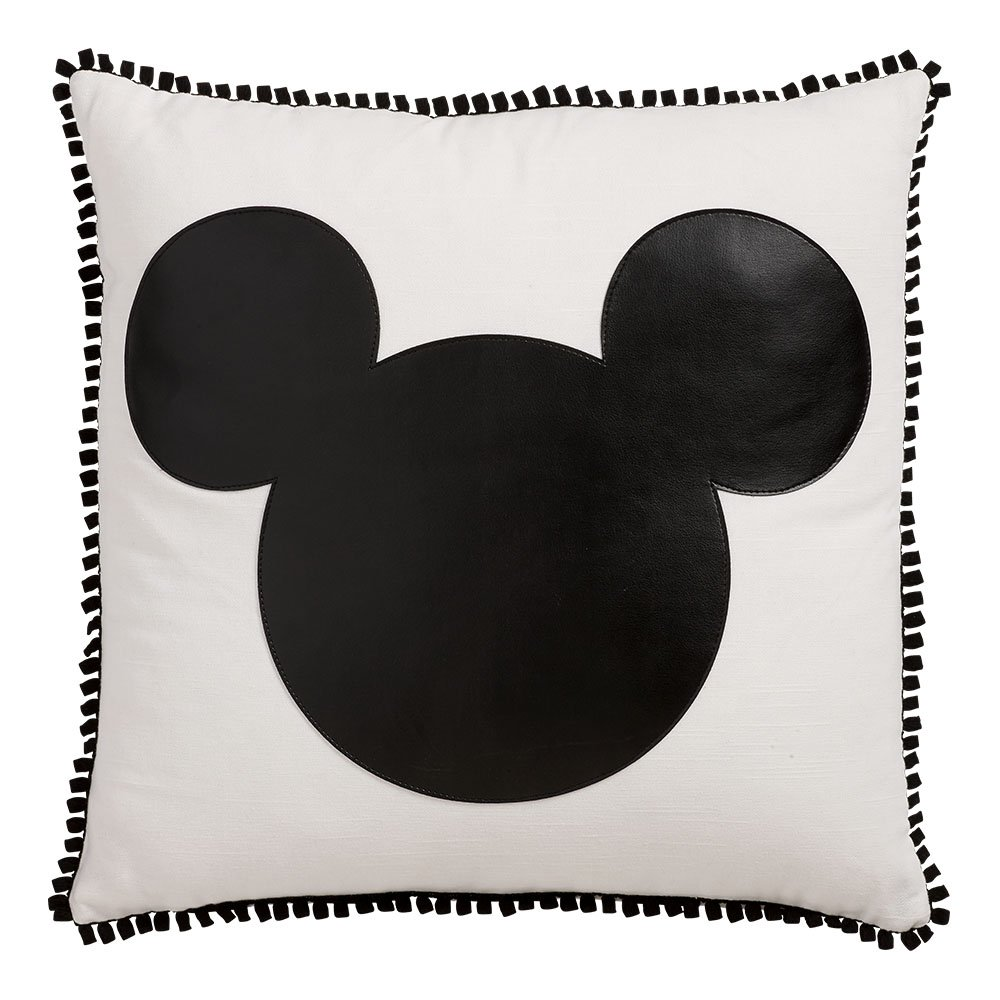 Ethan Allen | Disney Mickey Mouse Icon Pillow (Black)