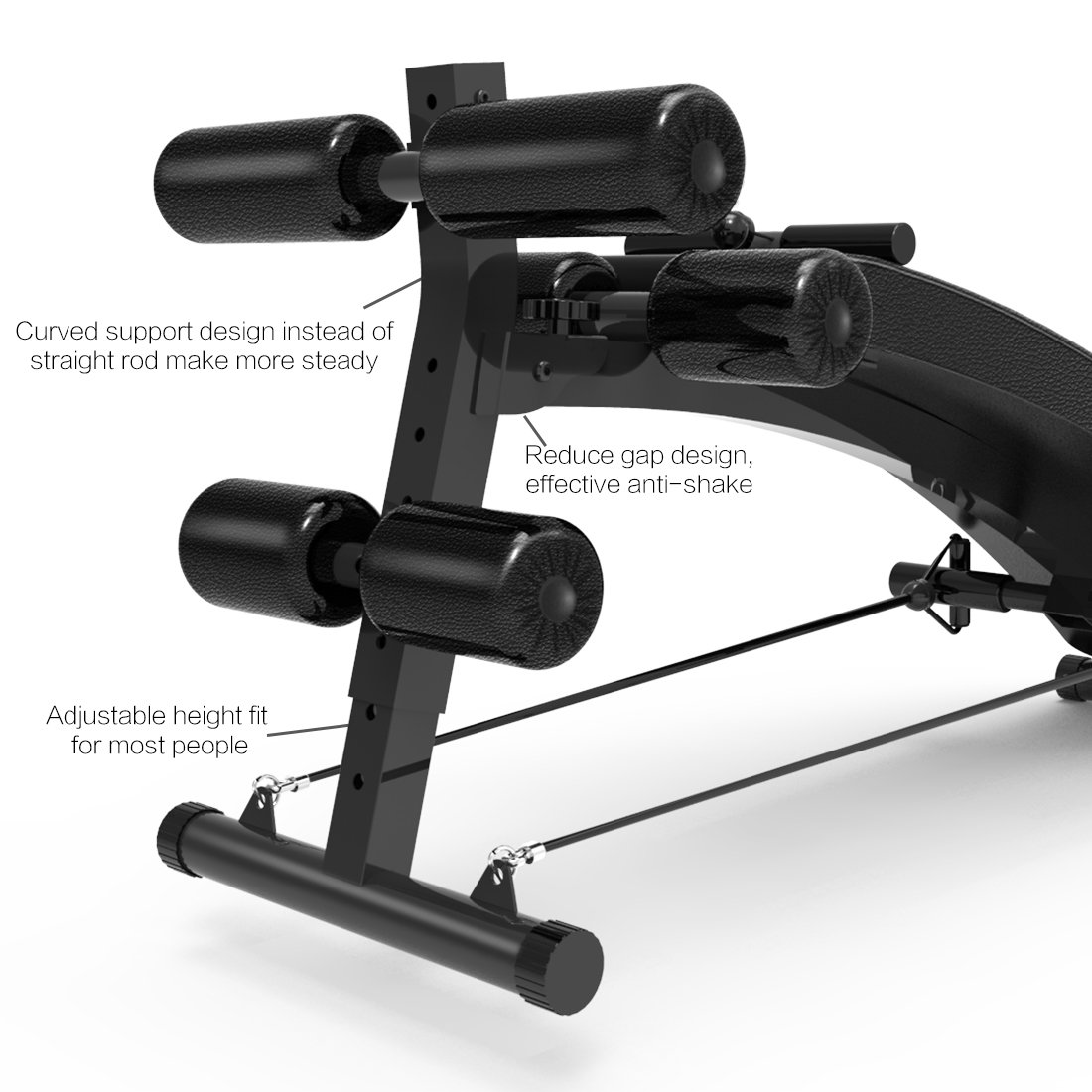 The 5 Best Sit-Up Benches Worth Buying In 2018 - FEIERDUN Adjustable Workout Sit-up Bench