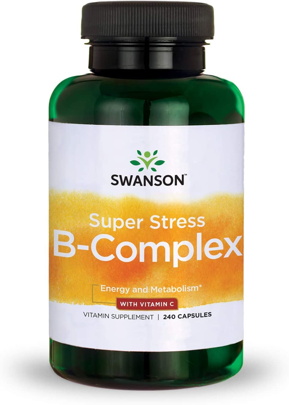 Swanson Super Stress Vitamin B-Complex with Vitamin C 240 Caps