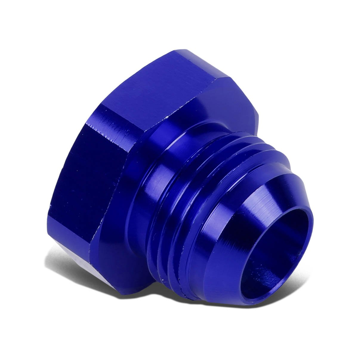 Blue 12AN AN-12 3//4 inches Flare Bolt Aluminum Anodized Nut Plug Lock Fitting Adapter