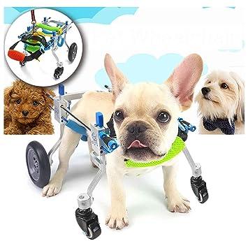 AnnCWLY Carro para Silla de Ruedas de Aluminio para Mascotas para discapacitados Patas traseras Caminar 4