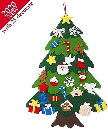 2020 Albero Natale Feltro per Bambini, 3.2ft DIY Albero di Natale