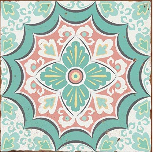 Lps Paquete DE 10 Pegatinas Estilo Victoriano marroquí de Estilo Tradicional Envejecido, Estilo Mosaico, Color Azul Pastel y Verde, Rosa, Rosa, Azulejos, Adhesivos, para baño, Cocina, etc. para baño