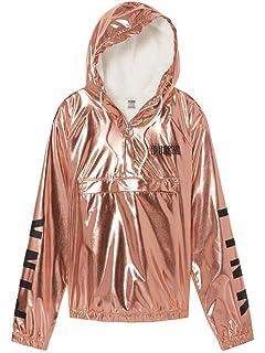 e7c522c05fdd5 victoria's Secret pink Iridesent Exclusive Quarter-Zip Anorak Jacket ...