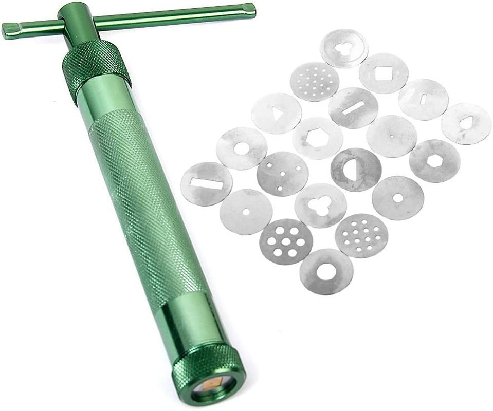 VORCOOL Polymer Clay extruder Sculpting Tools con 20/Discos Intercambiables Verde