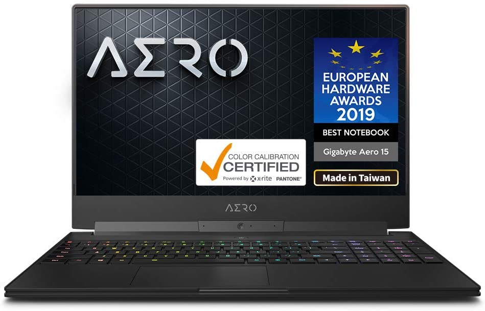 "Gigabyte AERO 15-X9-9RT4K5MP 15"" Thin Bezel UHD Auo IPS Adobe RGB 100%, i9-8950HK, NVIDIA GeForce RTX 2070, 32GB RAM, M.2 PCIe 1TB SSD, RGB Keyboard, Win10 Pro High-end, 94Wh Ultra Slim Gaming Laptop"