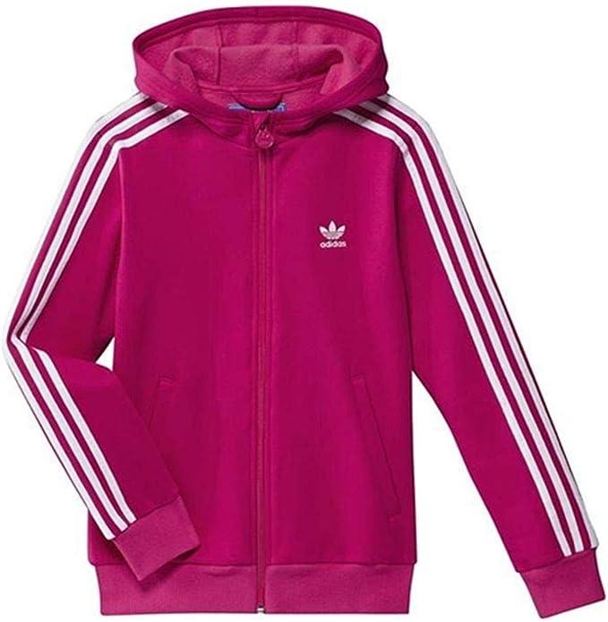 adidas Damen Trainingsjacke Hooded Track Top, bright pink