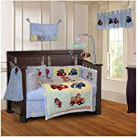 BabyFad Animal Zoom 10 Piece Baby Crib Bedding Set