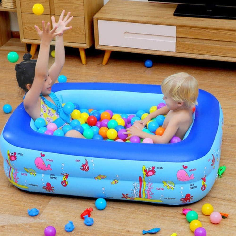 WXCL Piscina Inflable portátil para bebés, Parque Infantil Divertido, Piscina Interior para niños al Aire Libre, bañera, Piscina para niños, Piscina para bebés, 115x85x35 cm