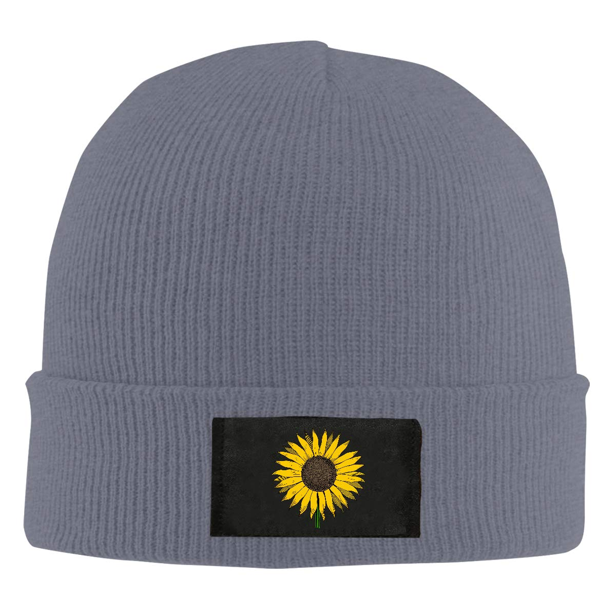Sunflower Clipart Men /& Womens Knitted Hat Stretchy Beanie Cap