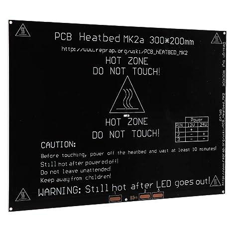 Mk2A Placa de cama caliente de cama caliente de aluminio Pcb 314 ...