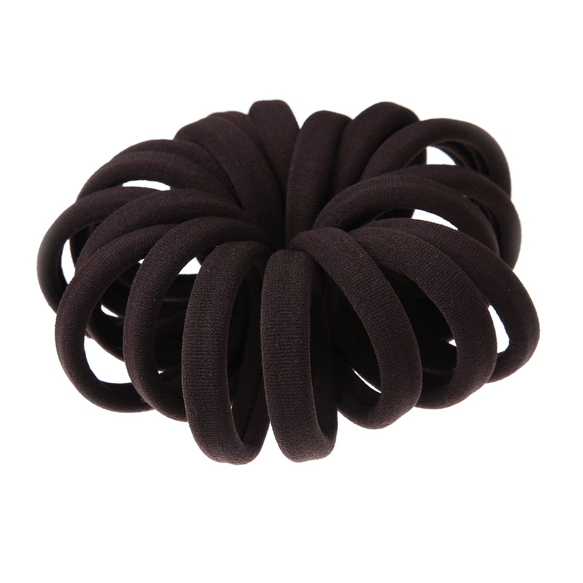 Amazon.com   Miuance Elastic Hair Ties Hair Ties Bands Rope No Crease Elastic  Fabric Large Cotton Stretch Ouchless Ponytail Holders (20 pcs Thick Brown)    ... c5c98f8cfed