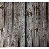Moyishi Self Adhesive Blue Gray Wood grain furniture stickers PVC wallpaper cabinets Gloss Film Vinyl Counter Top Decal 17.7''x79''