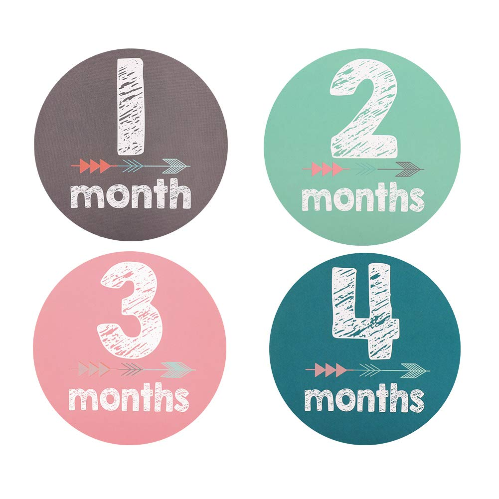 Baby Monthly Stickers by Accmor, Set of 12 Baby Milestone Stickers, Newborn Stickers, Month Stickers for Baby, Best Baby Shower Registry Gift or Scrapbook Photo Memory Keepsake