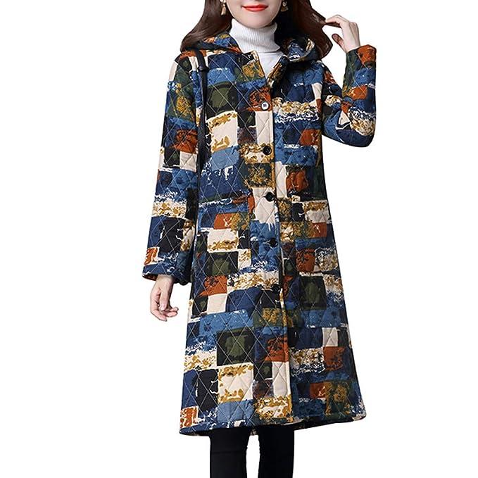 Logobeing Moda Sudadera Mujer Abrigo de Invierno Otoño Cardigan Talla Grande Tops Folk-Custom Chaqueta