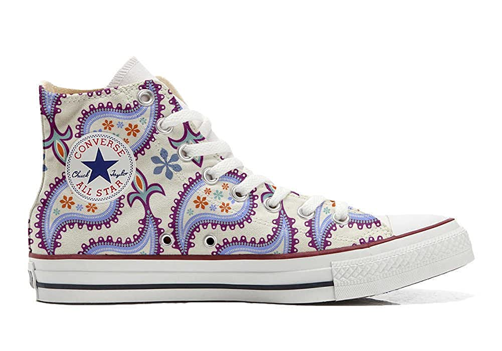 Converse All Star Personalisierte Schuhe - Handmade Schuhes - Decorative Paisley -