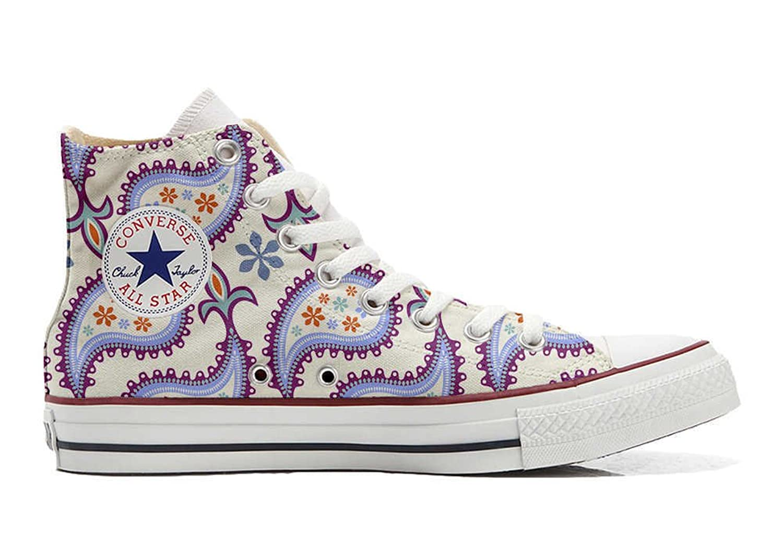 Converse Custom - personalisierte Schuhe (Handwerk Produkt) Decorative Paisley  36 EU