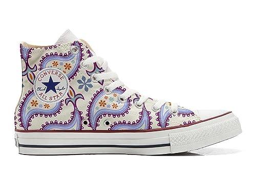 Converse All STar CUSTOMIZED  Sneaker Unisex printed Italian style Decorative Paisley