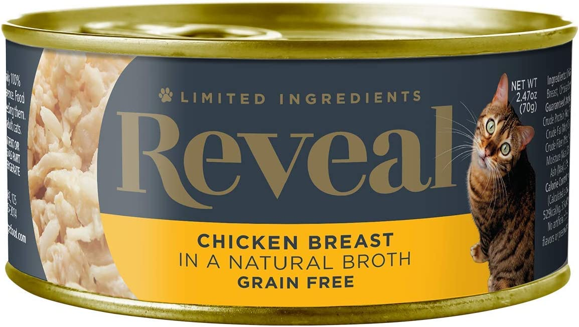 Reveal - Grain Free | Wet Canned Cat Food | 2.47oz Cans - Premium Nutrition, 100% Natural, No Additives, and Limited Ingredients