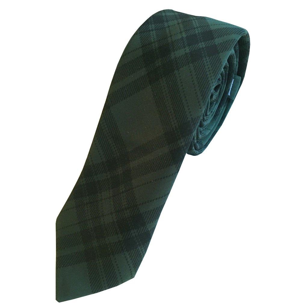 Green Tartan Skinny Tie