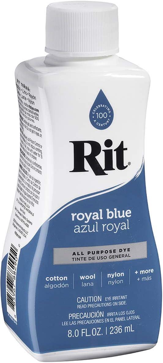 Rit Dye Tinte líquido de uso general, azul royal, 236 ml