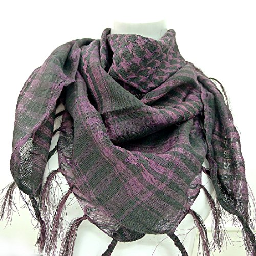 Taruron Woven Scarf 100% Cotton Military Shemagh Multi colors For Men and Women (V4) by Taruron