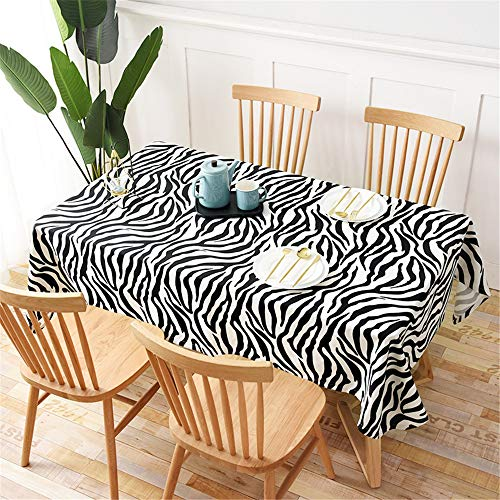 YIHAK Modern Fashion Table Cloth Black and White Zebra Leopard Pattern Tablecloth Table Cloth S 140x140cm