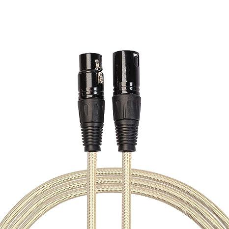 Broadroot cable guitarra eléctrica XLR Cable, Cable de Audio del Micrófono Cable de Extensión Macho