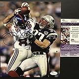 "Autographed/Signed David Tyree""The Catch"" Super Bowl XLII New York Giants 8x10 Football Photo JSA COA"
