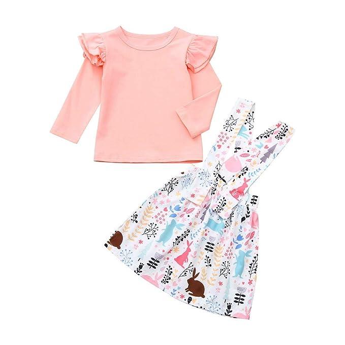 Traje de niña bebé Traje niña, niña pequeña bebé Camiseta Top Tutu Vestido Falda Fiesta Traje 6 Meses a 4 años de Edad: Amazon.es: Ropa y accesorios