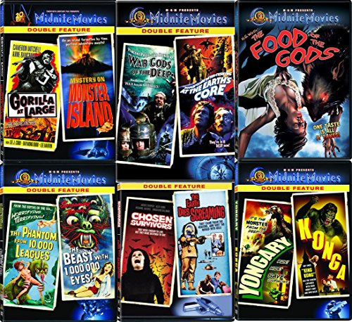 Monsters & Creatures Midnite 11 Movies DVD Set The Food of the Gods/ The Phantom from 10,000 Leagues / At the Earth's Core / Konga Yongary Monster From the Deep / Gorilla Mystery Monster Classic Films ()