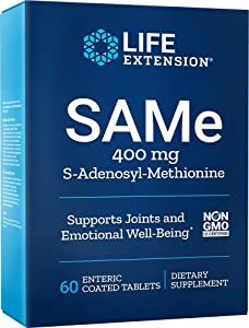 Life Extension Same S-Adenosyl-Methionine 400 Mg, 60 Enteric Coated Tablets