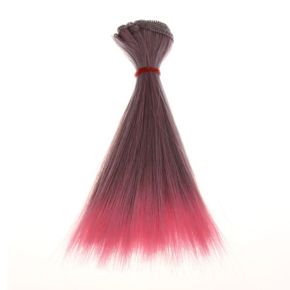 Jinjiums Women's Wigs,Fashion 15 cm Wholesale Light Straight Hair Hair DIY/BJD Wig Doll Halloween Party Cosplay (B)