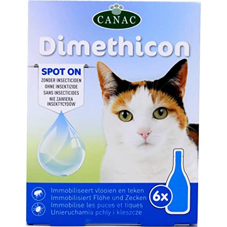 Generique DIMETHICON - Pipetas antipulgas y garrapatas Spot on para gatos, x 6 pipetas