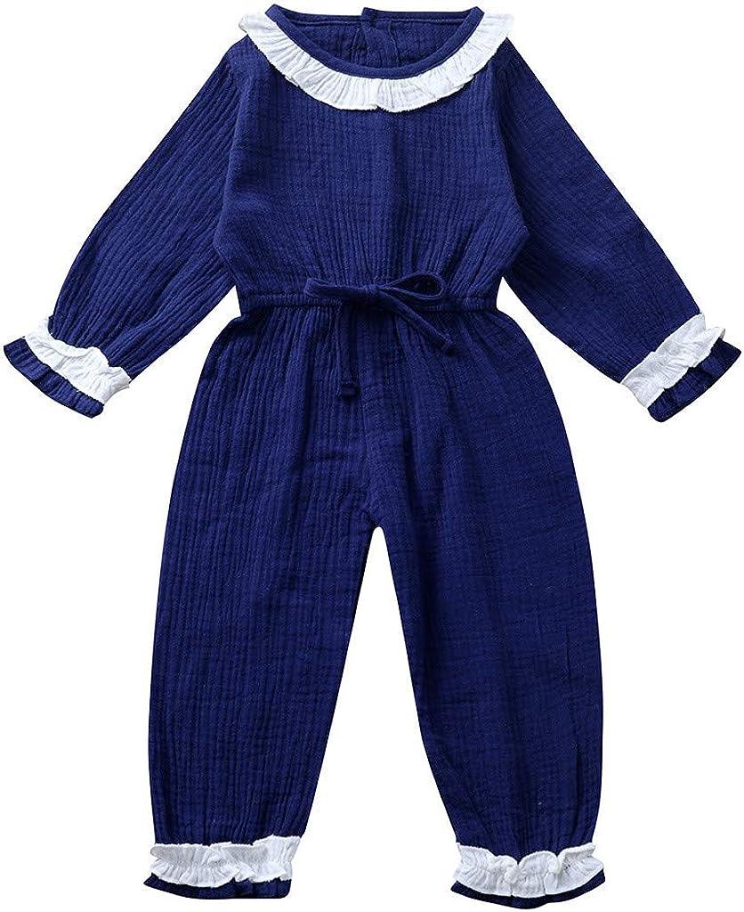 Deloito Kleinkind Baby Kleidung Set Neugeborene M/ädchen Robe Blusen Hosen Overall Spitzen R/üschen Strampler Bodysuits Outfits