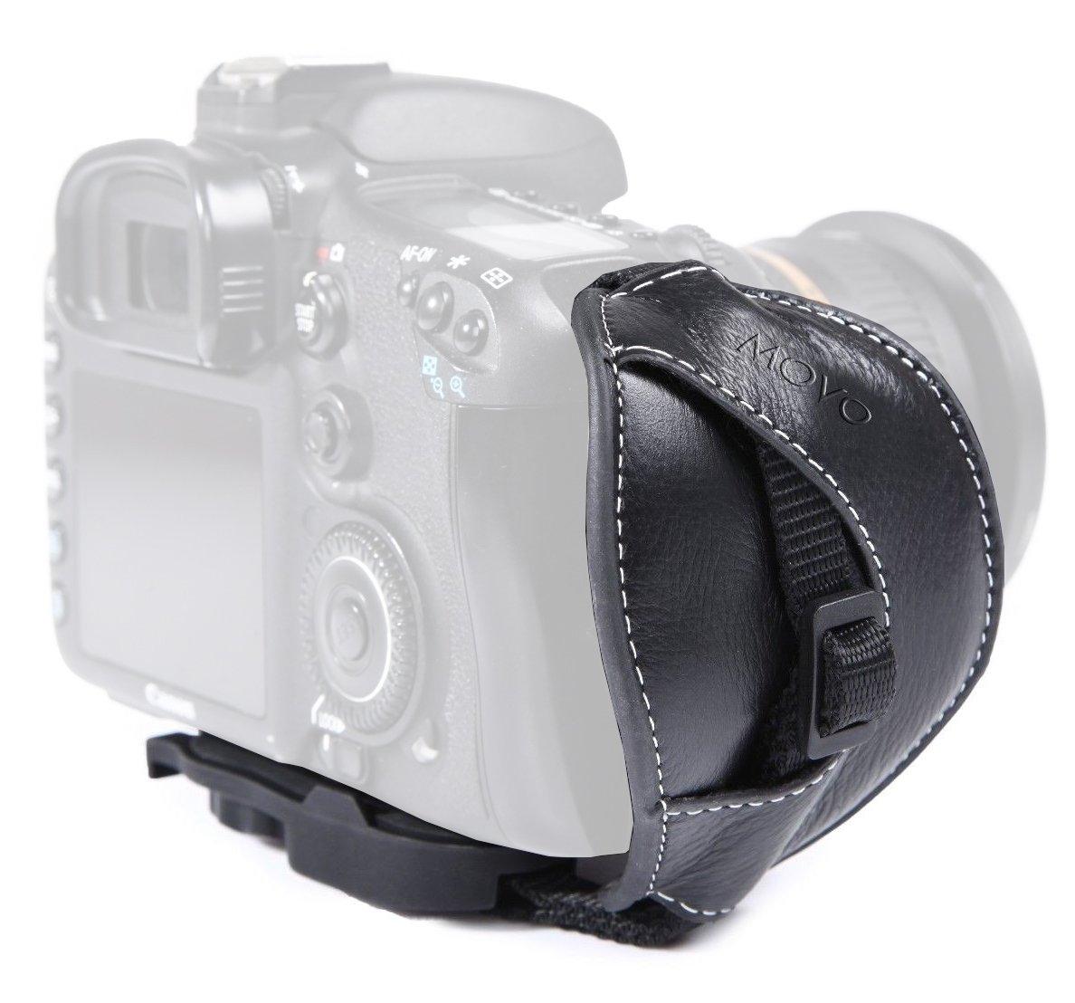 Movo Photo HSG-6 Premium Alternative Leather Padded Secure Grip Strap for Canon EOS, Nikon, Sony, Olympus, Pentax & Panasonic DSLR & Mirrorless Cameras