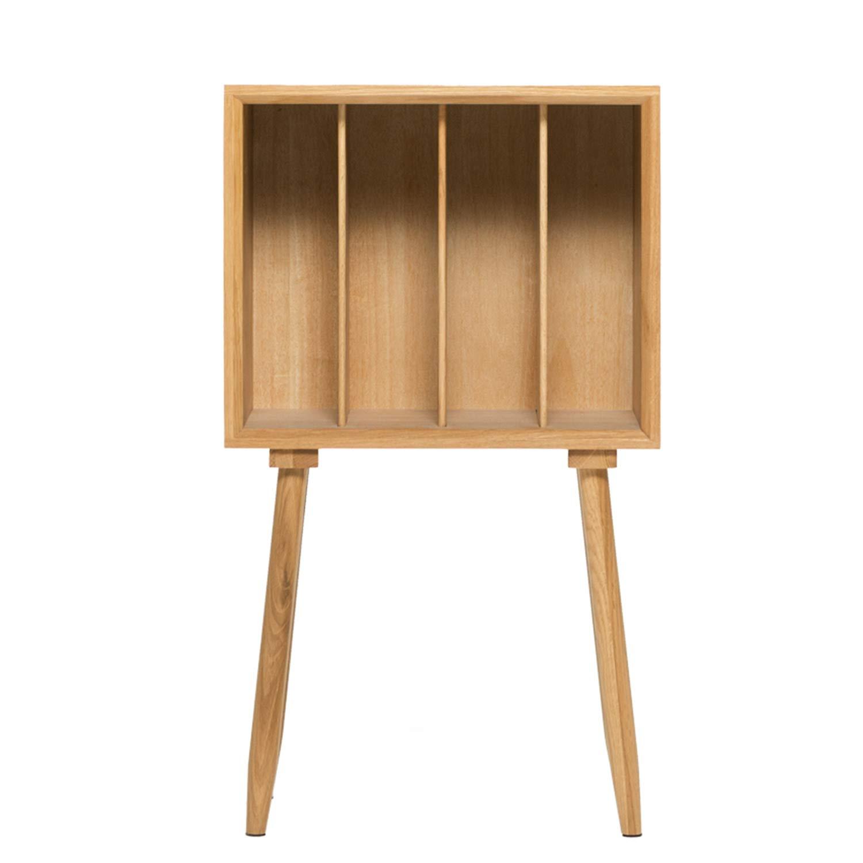 XCXDX Nachttisch Aus Massivem Holz, Einfaches Bücherregal-Zeitschriftenschrank, Sofa-Seitenschrank, 45 × 27 × 78 cm