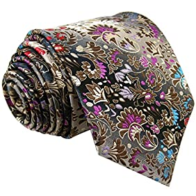 Shlax & Wing Extra Long Size Necktie Multicolor Floral Men's Tie Silk ...