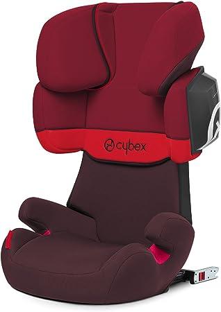 Oferta amazon: Cybex Silver Solution X2-Fix - Silla de coche con y sin Isofix, Grupo 2/3 (15-36 kg), Desde los 3 hasta los 12 años aprox., Rojo (Rumba Red)