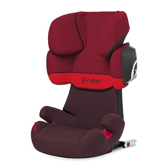 Cybex Silver Solution X2-Fix - Silla de coche con y sin Isofix, Grupo 2/3 (15-36 kg), Desde los 3 hasta los 12 años aprox., Rojo (Rumba Red)