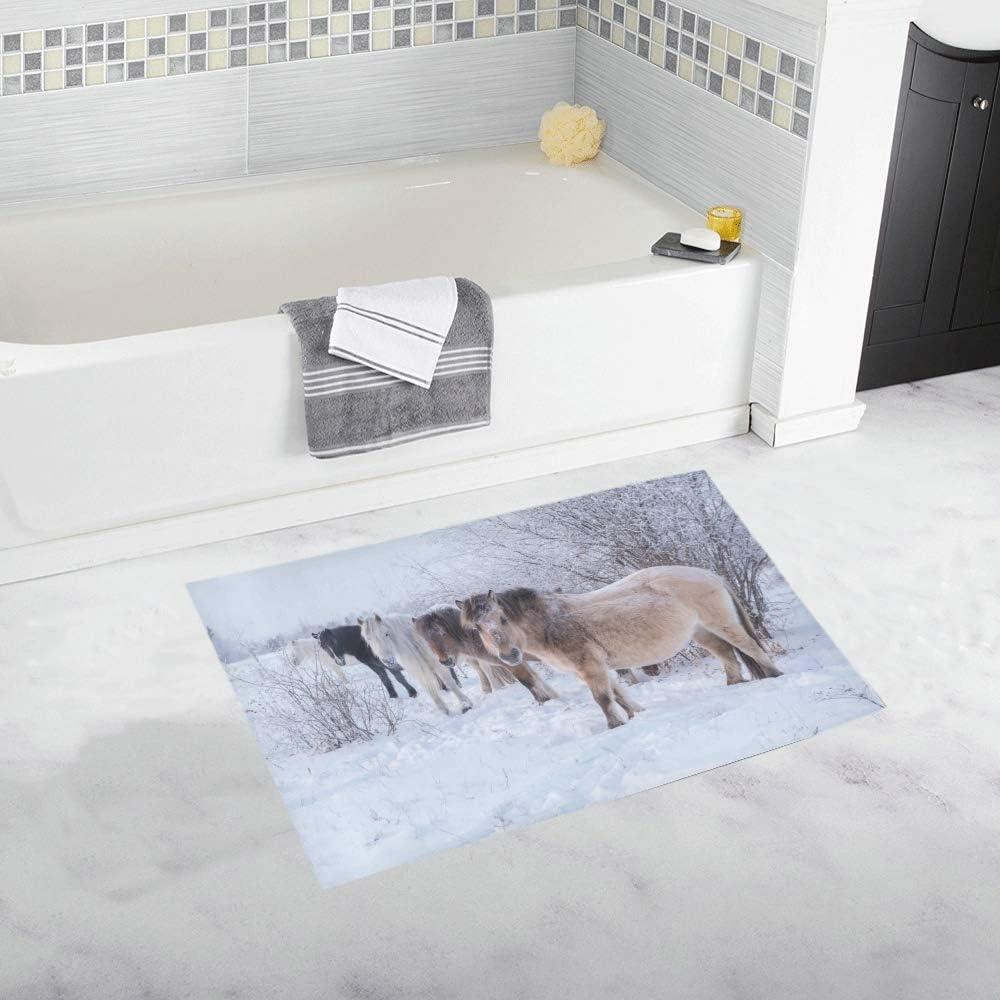 Amazon Com Soft Non Slip Shower Bath Mats For Bathroom Horses Of Yakut Breed Decor Boys Girls Absorbent Microfiber Boy Machine Wash 20x32inch Kitchen Dining
