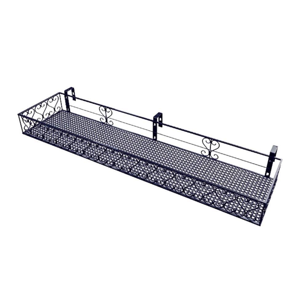 controlla il più economico Metal Plant Plant Plant Stand Railing Rack, Hanging Flower Pot Espositore per Balcone Windows Terrace (Dimensioni   100×20×12cm)  shopping online e negozio di moda