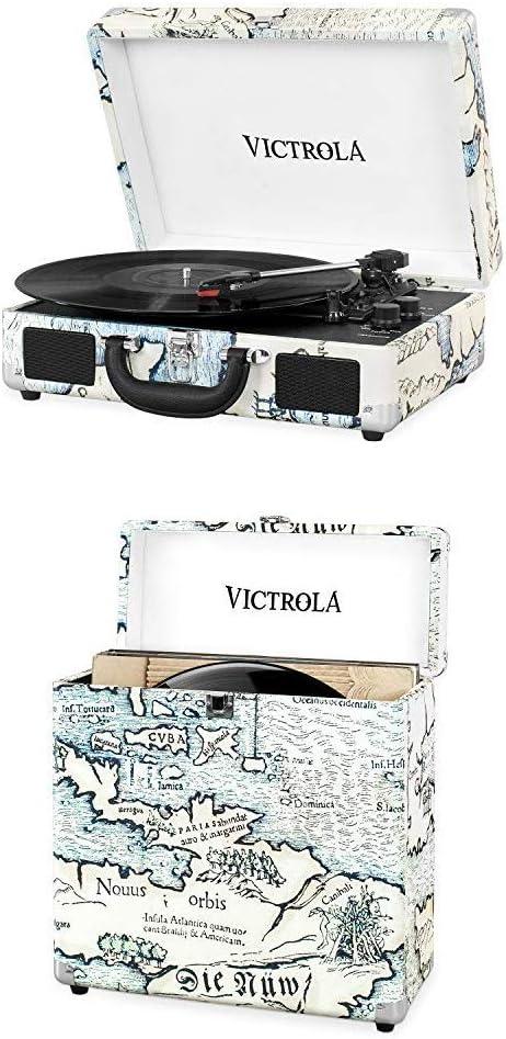 Victrola Suitcase Tocadiscos en maleta Vintage Bluetooth y Maleta ...
