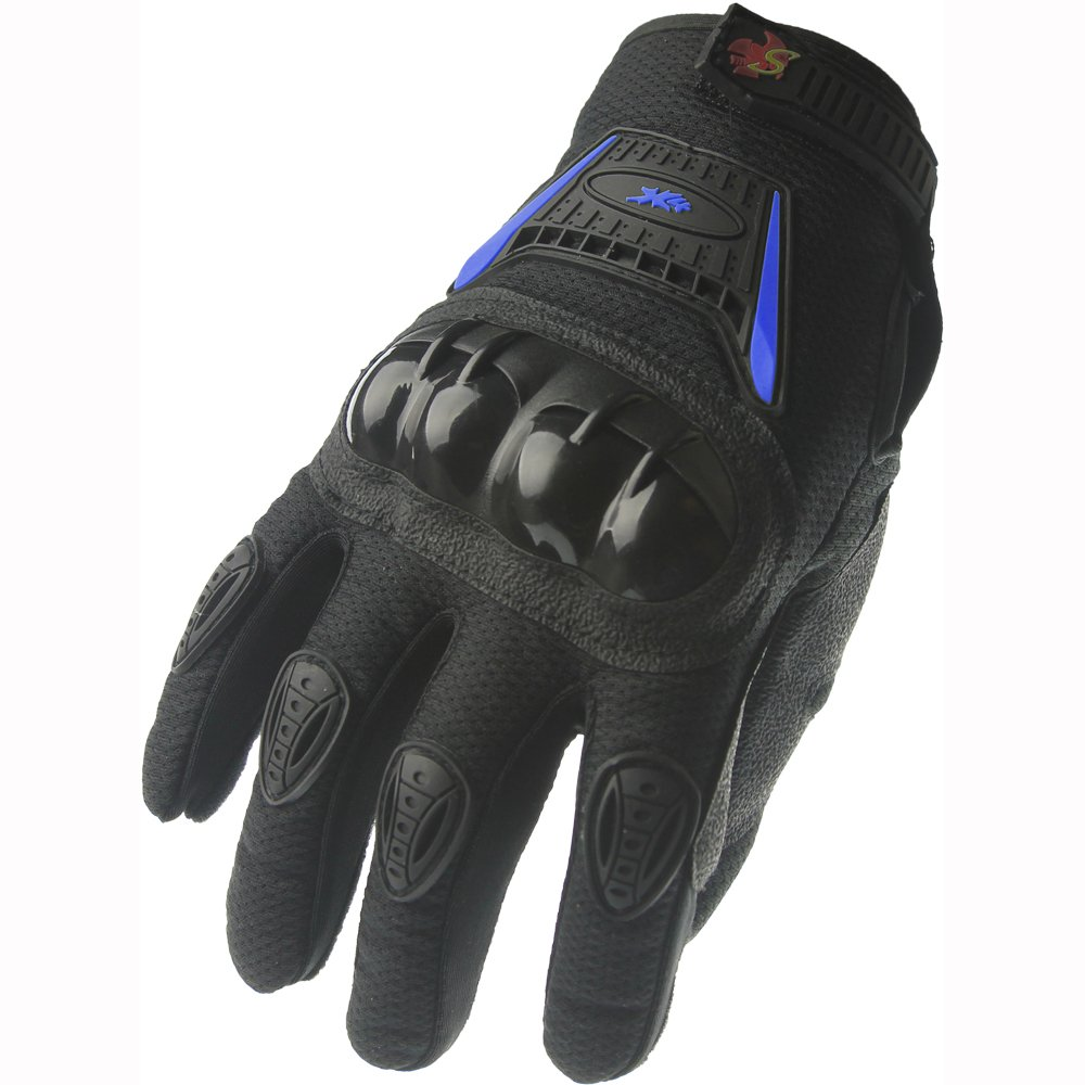 Motorcycle gloves discount - Amazon Com Street Bike Full Finger Motorcycle Gloves 09 Xl Black Blue Automotive