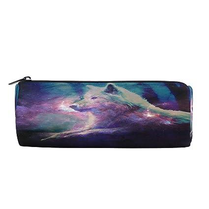 a7abd462e36a Amazon.com : Galaxy Wolf Animal Star Pencil Pen Bag Case, Office ...