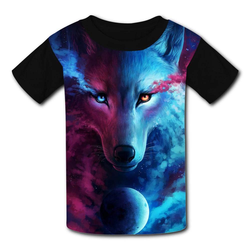 Kids Custom Where Light And Dark Meet Wolf T-Shirts Boys Girls Teenager Tee Shirt Children Youth Graphics Tees
