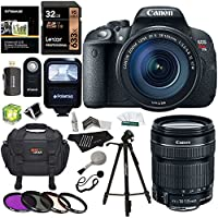 Canon EOS Rebel T5i 18 MP CMOS Digital SLR with 18-135mm f/3.5-5.6 IS STM Lens + Polaroid Flash + Lexar 16GB 2 Pack + Polaroid 57