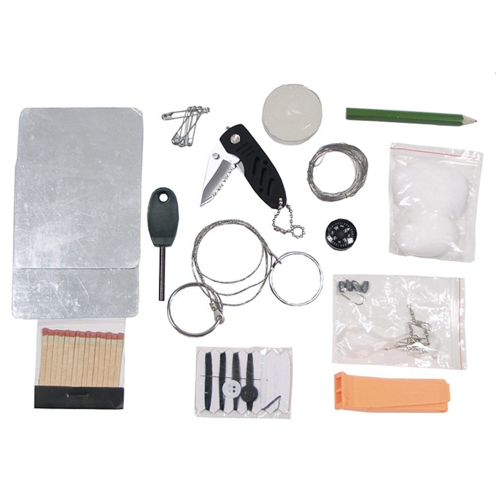 MFH 27 PIECE COMBAT SURVIVAL KIT CAMPING OUTDOOR HUNTING SHOOTING
