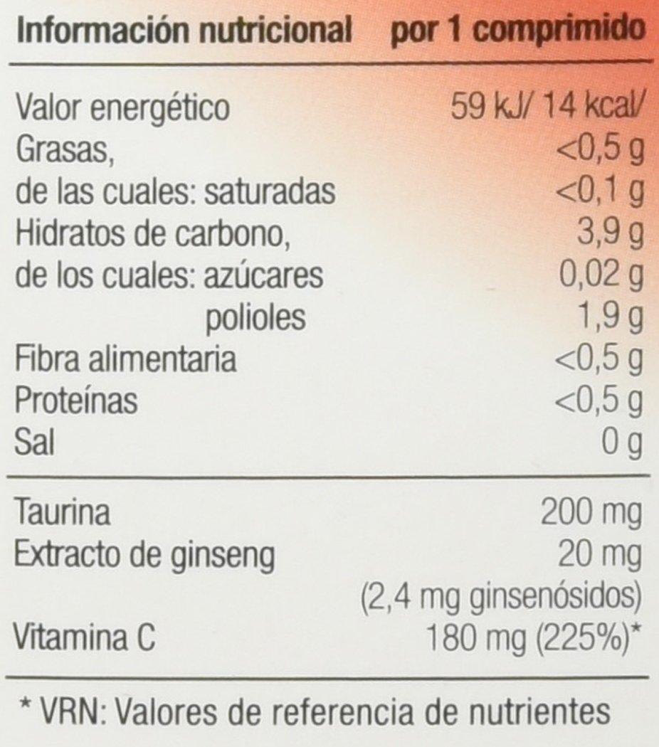 Vallesol Taurina, Ginseng y Vitamina C Tabletas Masticables - 24 cápsulas: Amazon.es: Alimentación y bebidas