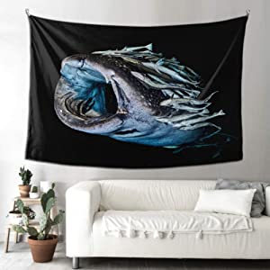 QYUESHANG Living Room Wall Art Decor Philippine Whale Shark Room Decor Wall Art Woman Wall Hanging 90x60 Inches(229x152cm) Wall Hanging Art Home for Living Room Bedroom